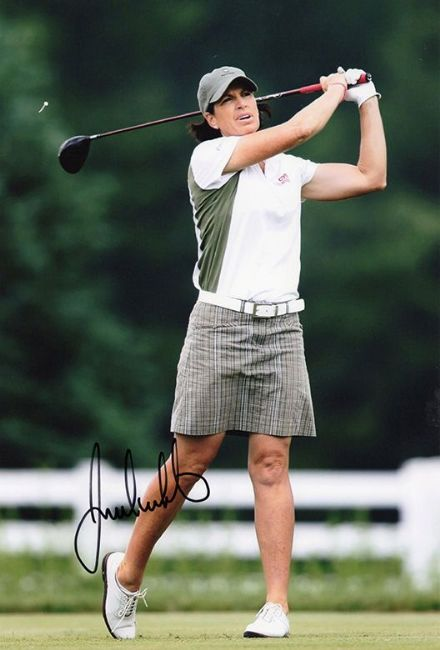 Juli Inkster, signed 12x8 inch photo.(2)